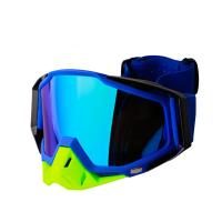 Buy cheap Hot sale style new model customized strap logo motorcycle goggles, motocross goggles with customized different lens from Wholesalers
