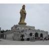 Buy cheap 12 meters high Guan Yin Bhodisattva on lotus pedestal bronze Buddha from wholesalers