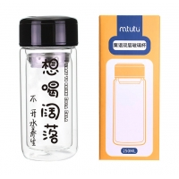 China Silica Gel Personalized Glass Water Bottle For Boys Girls factory