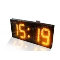 China Amber Color Electronic Countdown Timer , Outdoor Type Countdown Led Clock factory