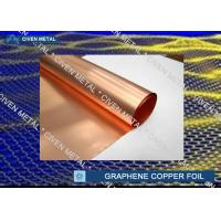 China Red Copper Foil Sheet Rolls For Graphene 0.015 - 0.05mm Thickness factory