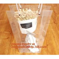 China PP plastic flower carry bags with hanging for potted plant bags,quality assurance great quality pp flower bag bagease pa factory