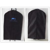 China Luxury PVC Leather Hanging embroider suit protector Garment Bag Carry On Suit Cover Black factory