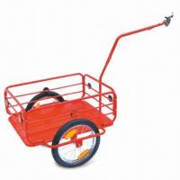 China Durable Steel Bicycle Trailer with 150kg Loading Capacity and Powder-coated Iron Body factory