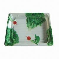 China Plastic Sushi Tray with Good Anti-fog Treatment with Laminated Film to Ensure Safety for Food Use on sale