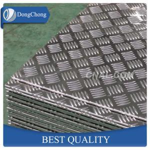 China 5 Bar Aluminium Checker Plate , 1060 3003 5052 Aluminum Plate For Truck Body factory