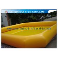 China Indoor / Outdoor Yellow Above Ground Inflatable Pool For Backyard Water Game factory