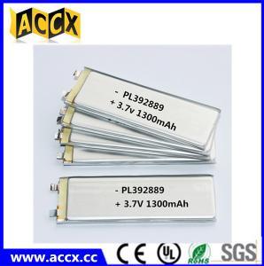 China PL392889 3.7V 1300mAh lithium polymer battery factory