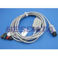 Buy cheap 2.0m Gray ECG Patient Cable , Electrodes And Leads Round 6 PIN Connector from Wholesalers