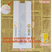 China Professional Food Safe Opp Clear Window Paper Bags Offset Printing, OEM Block Bottom Bags Tin Tie White Paper bags with factory