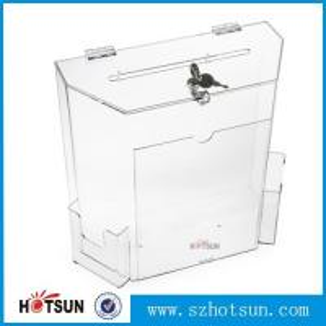 China wholesale acrylic donation/ suggestion/ money box factory