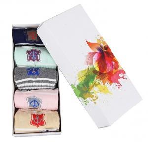 Foldable Custom Setup Box / Socks Packaging Box 300gsm C1S Paper Material