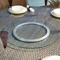 China furniture wholesale custom round glass turntable dining transparent lazy susan factory