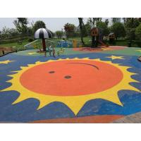 China Anti Static Playground Rubber Flooring Customized Colors Corrosion Resistant factory
