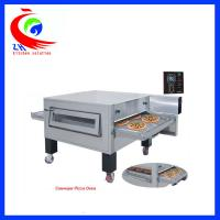 China Hot Air Circulation System Electric Pizza Oven Flat Griddle Pan With Wheel factory