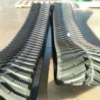 China Black Durable Continuous Rubber Track , Rubber Excavator Tracks 450mm Width factory