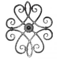 China forged wrought iron rosettes and panels factory