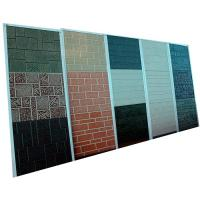 Buy cheap Durable Metal Carved PU Foam Sandwitch Wall Panel With 3800x380x16mm Size from Wholesalers