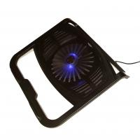 China LED Fan Foldable USB Cooling Pad Laptop Cooler for 15.6 inch Notebooks Black on sale