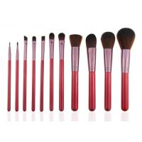 Essential 11pcs Professional Makeup Brush Set Wooden Handle Goat Hair Leather Case