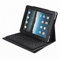China Bluetooth Keyboard for iPad, with Leather Case, Soft and Waterproof, Built-in Lithium Battery on sale