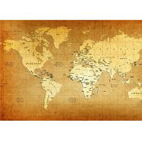 Buy cheap World Map Interior Decorative Wall Panels For TV Wall  , 5mm 7mm 9mm Thickness from Wholesalers