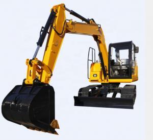 China 7.5 Ton Micro Digger Mini Crawler Excavator 7500kg on sale