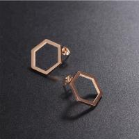 Buy cheap EAST QUEEN Wholesale Hot Selling Fashion 316L Stainless Steel Hexagon Stud Earrings from Wholesalers