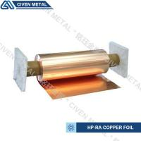China High Conductivity Surface Degreasing Copper Foil Roll , Tolerances ±0.001 factory