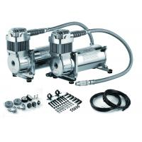 China Fast Inflation Silver Steel Dual Air Suspension Compressor  for car 4.5 CFM 150PSI factory