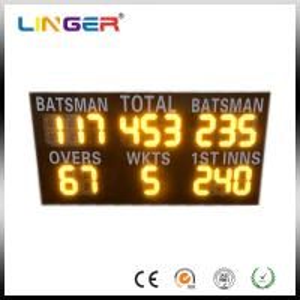 China Commercial Led Cricket Scoreboard , Electronic Sports Scoreboard IP54 / IP65 Waterproof factory