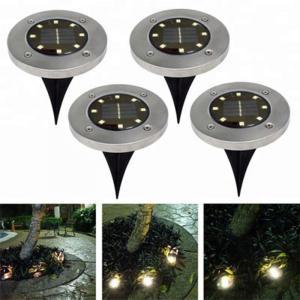 China Yellow Solar Powered LED Ground Lights / Solar Powered Walkway Lights factory