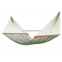 Buy cheap Foldable Wide Grass Green Rope Hammock With Solid Hardwood Bars Fade Resistant from Wholesalers