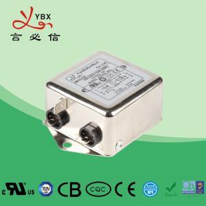 China Single Phase Low Pass EMI Filter / Power Line RFI Filter Metal Case factory