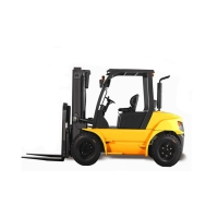 China 5 Ton 25 Ton FD50T Diesel Powered Forklift With Paper Roll Clamp factory