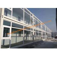 Buy cheap Foldable Flat Pack Prefab Container House With Glass Facade Decoration For Office Use from Wholesalers