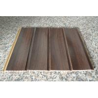 Buy cheap Wood Grain Strip Laminated PVC Wall Panel 3D Effect Self - Fire Extinguishing from Wholesalers