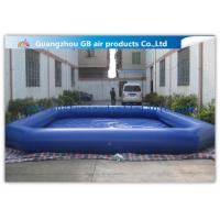 China Commercial Giant Swimming Pool Inflatables , Dark Blue Large Inflatable Pool Toys 8 * 6m factory