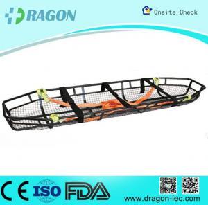 Sturdy Flexible Emergency Basket Type Stretcher Stainless Steel Safety Belts