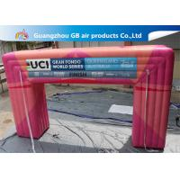 Buy cheap Customized Pink Square Inflatable Door Archway Make 0.6mm PVC Tarpaulin Airtight from Wholesalers