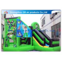 China Green Ben 10 Theme Bouncy Castle Slide, Inflatable Jumping Castle For Kids factory