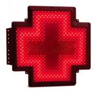 China Single Green Pharmacy Cross Sign Advertising RF Control Animated Shining on sale