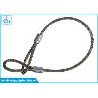 China Stainless 316 3mm Wire Rope Loop Slings / Safety Cable For Led Par Light factory