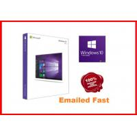 Buy cheap Windows 10 Pro Retail Box , Win 10 Pro Pack  64 Bit 3.0 usb flash drive activated online working lifetime from Wholesalers