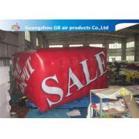 China Airtight Large Helium Balloons For Advertising , 0.18mm PVC Red Cuboid Helim Balloon factory