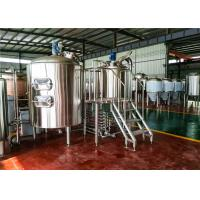 China 3 Bbl Draught Beer Machine , Draft Beer Brewing Equipment For Hotel factory