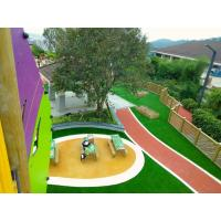 China 16 Colors Outdoor Play Area Flooring , Fragmented Recycled Rubber Flooring factory