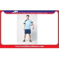 China Dry fit Polo Quickly Dry Football Shirts / Soccer Uniform Sets with Plus Size factory