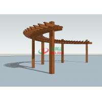 Buy cheap Durable Arched Pergola Kits 14.3m X 1.5m  ,  High Density Composite Wood Pergola from Wholesalers