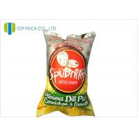 Buy cheap 140 Micron Food Grade Printed Laminated Pouches Back Sealing Inflatable Chips from Wholesalers